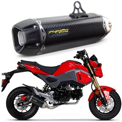 GROM Two Brothers TBR Tarmac Exhaust (Carbon Fiber) 2017+